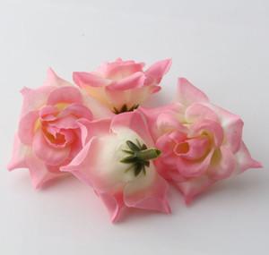 Chaud! 300pcs Rose Roses Fleur Tête Fleur Artificielle De Mariage Décoration Fleurs 5 cm