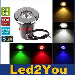 Новый удар 3W 12V DC Led подземные огни лампа IP67 водонепроницаемый светодиодный сад огни ударопрочный высокой мощности закаленное стекло