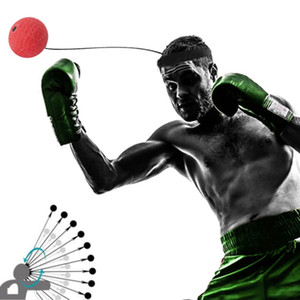 Élasticité Bandeau De Porter De L'équipement De Boxe De Combat De Ballon D'entraînement De La Vitesse Ball Muay Thai Trainer Rapide Punch Top Qualité