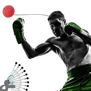 Elastizität Kopf Band Boxing Ausrüstung Kampf Ball Training Geschwindigkeit Ball Muay Thai Trainer Schnell Punching Top Qualität