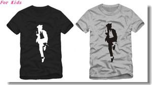 O envio gratuito de alta qualidade Tee Para 90-150 cm crianças camiseta Michael Jackson camiseta mj t-shirt de dança camiseta para crianças 100% algodão 6 cores