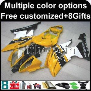 23colors + 8Gifts JAUNE capot de moto pour Yamaha YZFR6 2008-2016 YZFR6 08 09 10 11 12 13 14 15 16 ABS Carénage