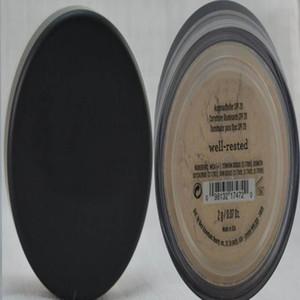في المخزون 46 ألوان SPF15 / SPF25 ماكياج عارية المعادن مسحوق الأساس الأصلي وميض / ماتي الأساس ماكياج مسحوق dhl مجانا الشحن
