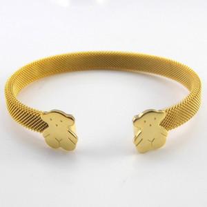 золотые браслеты для женщин 2020 весной нового приход широких браслета ювелирных изделий роскоши дизайнер из нержавеющей стали браслетов женщин старинных браслетов