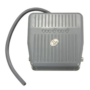 Auddew 0-400V 0-10A DC AC Foot Switch N O N C Momentary Switch Power Pedal SPDT Grey Plastic order<$18no track