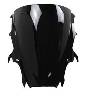 Motorrad-Doppelt-Blasen-Windschutzscheibe WindScreen für 2009-2013 Triumph Daytona 675 Schwarzes 09 10 11 12 13 2010 2011 2012