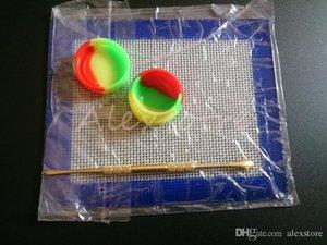 Silicone Wax набор набор с 14 см * 11,5 см квадратные простыни Pads Mats 5ML кремниевый контейнер длинный золотой табло для сухого травы