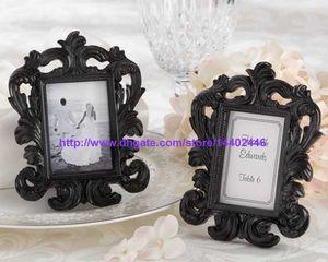 30 pcs preto ou branco cor ornamentado estilo barroco foto moldura quadro casamento festa mesa de parede suporte presente