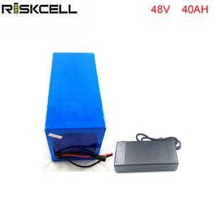 Bateria de íon de lítio de bicicleta elétrica 48V 40Ah bateria de lítio para 48v Bafang / 8fun 2000w / 750w / 1000w motor de acionamento médio / central