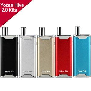 Authentic Yocan Hive 2.0 Kit Original 2 en 1 vaporizador con atomizador de cera Aceite grueso Tanque de vidrio Vaporizador 650mAh Caja Mod