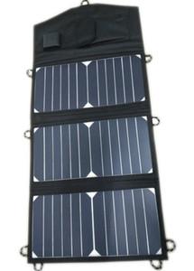 SUNPOWER الخلايا الشمسية 20Watt شاحن للطاقة الشمسية قابلة للطي + 10A تحكم للطاقة الشمسية للسيارة 12V / قارب / يخت / Jetski البطارية + الهاتف / شاحن الكمبيوتر المحمول