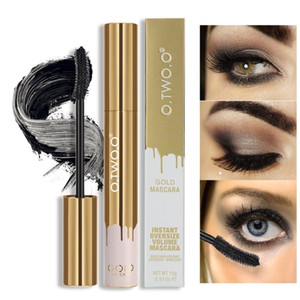 O.TWO.O Mascara allungamento ciglia nere estensione ciglia ciglia pennello trucco Mascara color oro 9981
