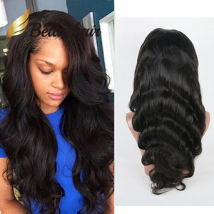 HD Lace Wig Body Wave Wavy Full Frontal Wigs Bleachable Black with Natural Hairline Bella Hair