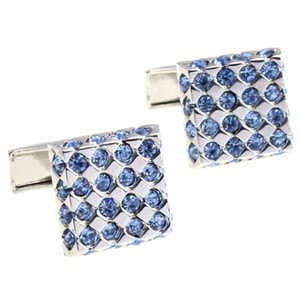 High quanlity copper and crystal business gift cuff links brand cufflink for men's shirt cuff free shipping W259