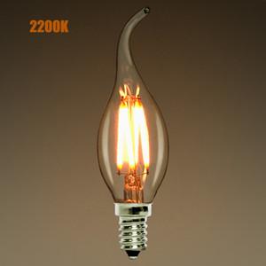 Lâmpada de Candelabra de LED,e12 e14,2W 4W 6W lâmpada de Candelabra de LED,2200K(amarelo quente), Ponta De Chama de candelabro de candelabro, 110-240VAC, Lâmpada Retro