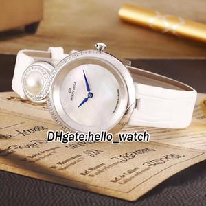 Christmas Git Jaquet Droz Collezione Fashion Lady 8 J014500241 White Conch Dial Orologio da donna al quarzo svizzero Watch cinturino in pelle zaffiro