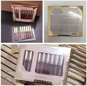 In Stock!New Makeup brand Stila 8pcs lip Gloss set Liquid lipstick High quality DHL shipping by win007