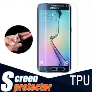 TPU Clear Full Cover gebogenen Teil Screen Protector Guard für Samsung Galaxy S 6 7 8 Kante Plus note8