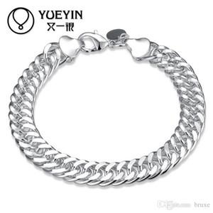 Outra prata jóias de prata fina na Europa e América exporta boutique 10 MM pulseira de lado inteiro presente criativo
