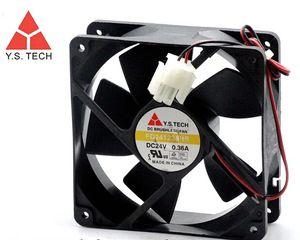 Y.S.TECH FD241238HB 120 * 120 * 38 24 V 0.36A 12 cm doble convertidor de bola ventilador