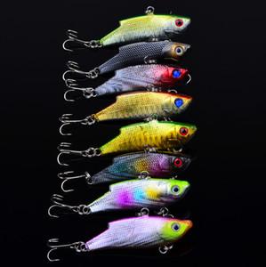 Горячие продажи ABS пластик VIB рыболовные приманки 5.5 см 10 г 6#крючок бионический бас пресноводный гольян воблер рыболовные приманки снасти