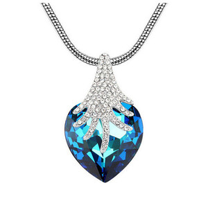 Forest Fantasy Pendant Necklace South Korea Fashion Jewelry Popular Pendant For Women Crystal Heart Necklace Jewelry NL-00215