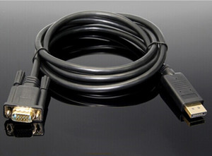Hot Nuovo Displayport TO Cavo VGA Cavo DP TO VGA 1,8 m Adattatore 1080p per proiettore TV Computer DRV DHL spedizione gratuita