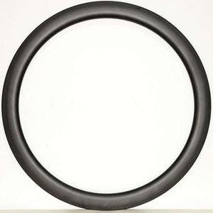 Ücretsiz kargo 700C 50mm Derinlik 23mm Genişlik Karbon tek Jant Kattığı Yol Bisiklet karbon jantlar 3 k / UD mat finish