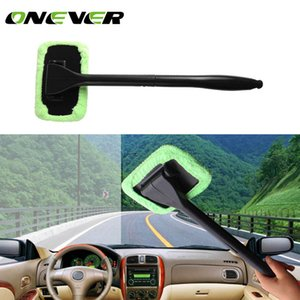 Wholesale- Microfiber Car Windshield Easy Cleaner Cleaning Tool Detachable Handle Brush Washer Towel With 2 Pads 30ml Spray Bottle