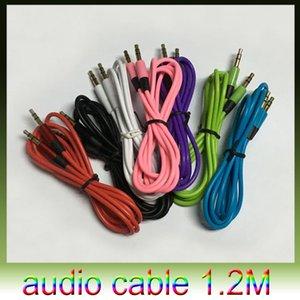1.2M / 4FT 3.5mm AUX câble auxiliaire mâle à mâle Stéréo Audio Extension Câble audio 7 couleurs pour MP3 téléphone 50pcs / lot