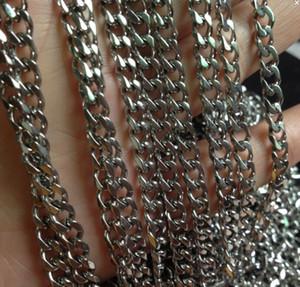 Venta al por mayor 5 metros / lote 5 mm de ancho Joyería fuerte Encontrar acero inoxidable Suave Curb Link Link Finding / Marking DIY collar pulsera