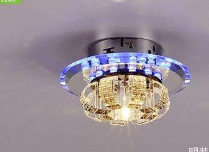 3W.5W.20 Вт LED красочные коридор огни проход светлый цвет Кристалл лампа коридор лампа освещает прихожую двери крыльцо огни