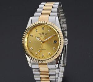 Механические автоматические часы бизнес стали часы ясно задняя крышка золото серебро два тона победитель Марка часы WN52