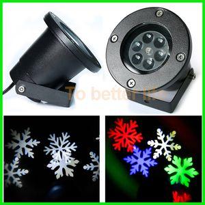 4 색 눈송이 벽 장식 레이저 빛 4w 방수 100-240V 자동 이동 스포트 라이트 실내 LED 풍경 프로젝터 빛