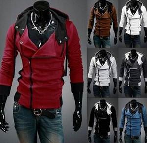 VENDA QUENTE Novo Assassin's Creed 3 Desmond Milhas Moletom Com Capuz Top Casaco Jaqueta Traje Cosplay, assassins creed estilo Com Capuz casaco de lã,