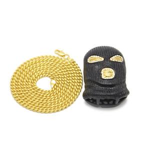 Hip Hop CSGO Pendentif Collier Hommes Style Punk 18 K Alliage Or Argent Plaqué Masque Tête Charm Pendentif Haute Qualité Chaîne Cubaine