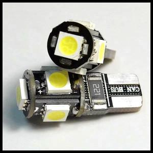 T10 5050 5led Canbus error luces del coche gratis W5W 194 5SMD BOMBILLAS DE LUZ SIN ERROR OBC blanco envío gratis