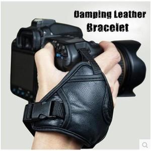 Cinturino da polso con impugnatura morbida in pelle di alta qualità nera per fotocamera reflex Nikon Canon Sony SLR / DSLR