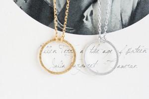 2016 mode 18k or argent plaqué figure pour toujours cercle collier pendentif collier pour les femmes cadeau livraison gratuite en gros