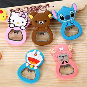 can bottle opener cute cartoon stainless steel beer Coke Juice Beverages wine opener with magnet 5 designs free shipping F-127