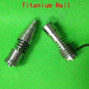 Оптовая универсальный Gr2 Титана ногтей мужчин и женщин 16/20 мм 2 в 1/4 в 1/6 в 1 domeless титана ногтей Ti ногтей для воска dab стекла бонги