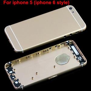Para iphone 5 Volver Carcasa Cubierta de batería Puerta iphone 6 Estilo de diseño Haga que iphone5 Parezca iphone6