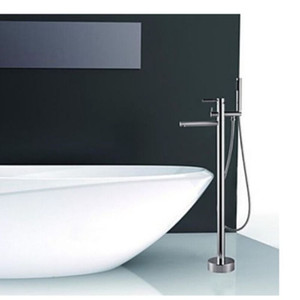Wholesale And Retail NEW Design Chrome Brass Floor Mounted Shower Faucet Tub Filler Mixer Tap Shower