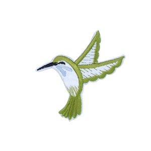10 PCS verdes Parches de aves para la ropa Bolsas de hierro en apliques de transferencia de parches para los pantalones vaqueros cose en el remiendo del bordado de bricolaje