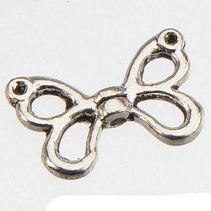 Résultats de bijoux Ange Ailes Perles Pour Bracelet De Bricolage Artisanat Creux Aile De Papillon Antique Argent Métal À La Mode En Gros 15 * 9 * 2mm 400pcs