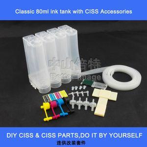 Kit CISS pour système d'encre continu universel 4 couleurs DIY avec accessoires, filtres à air, seringues, etc., sans cartouche