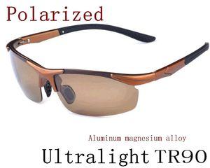 2 pcs Nouveaux Hommes Polarisé Conduite SunGlasses Titanium Sun lunettes Marque Designer Mode Oculos Mâle Lunettes De Soleil Semi-Rimless TR90 A-H 8color