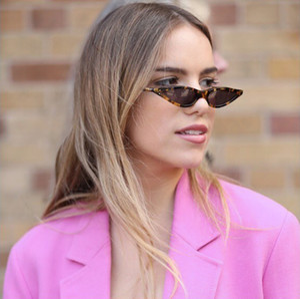 Óculos frescos Pequeno Triângulo Quadro Cat Eye Sunglasses Mulheres 2018 Novo designer Moda preto tons de amarelo Óculos de Sol waterdrop estilo UV400
