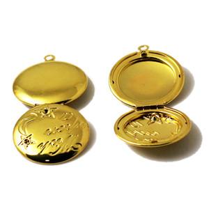 Beadsnice filigrane Anhänger Medaillons benutzerdefinierte Foto Halskette leere Foto Medaillon Messing Bild Medaillon liefert personalisierte Geschenk für ihre ID 10785