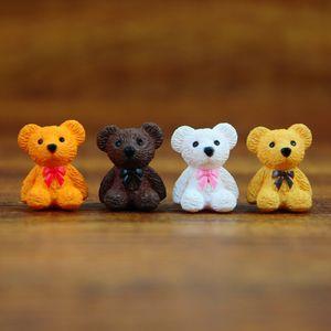 4colors 미니 만화 곰 동물 요정 정원 미니어처 이끼 Terrarium 수지 공예 인형 DIY 정원 장식 DHL 배송 무료